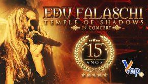 Edu Falaschi: vocalista traz TEMPLE OF SHADOWS IN CONCERT para Belo Horizonte. Saiba tudo sobre o show!